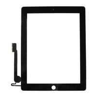 On sale 100% Original new black white digitizer for ipad 4 touch screen replacment