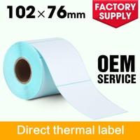 Wholesale self adhesive thermal barcode sticker plain printer balance labels