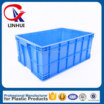 China Linhui Plastic Factory Hard plastic turnover box 575*395*250mm