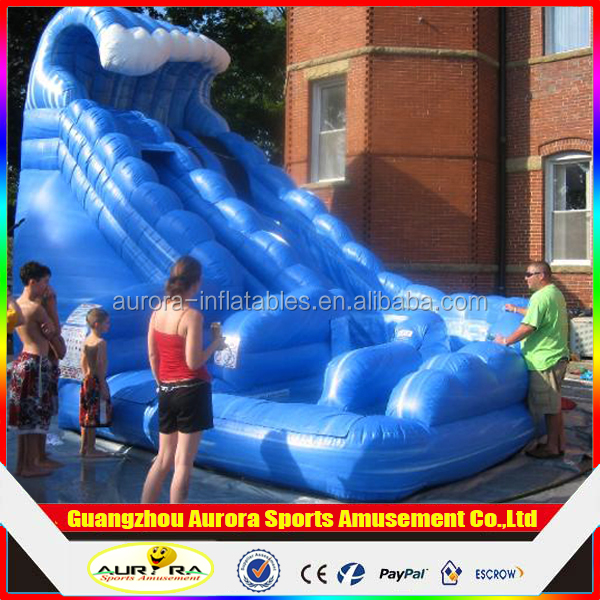 2016 best popular giant Monster Wave Inflatable Water Slide with factory lower price