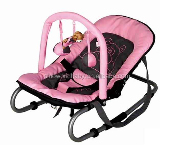 Videur bébé chaise berçante avec animal jouet, bébé videur, bébé à bascule