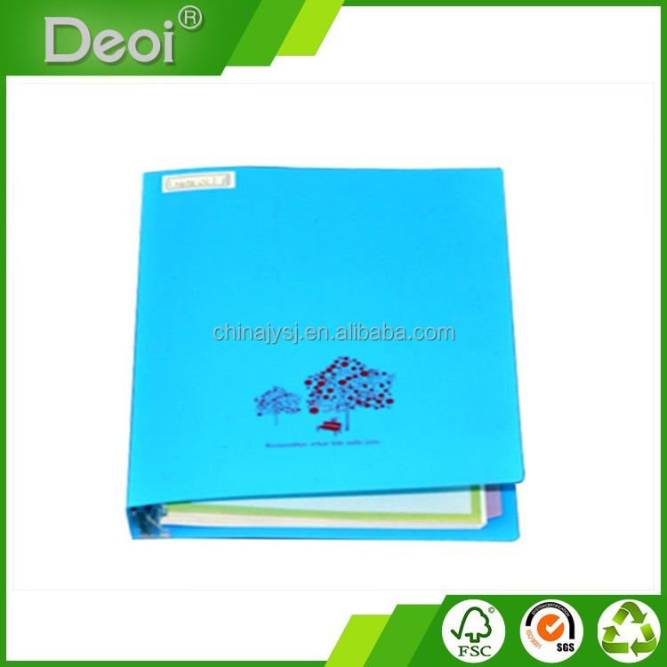 2015 new style Classical Design Customized PP cover fancy diary notebook OEM factory