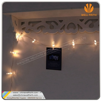 Home Decoration Lights Led String Light with Peg good For clip photos