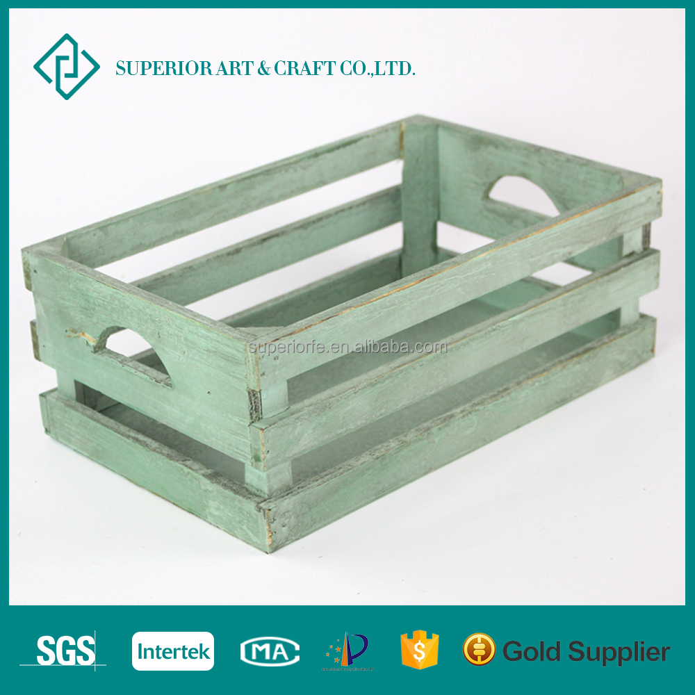 Hot Selling Cheap Old Chic Antique Wine Fruit Wooden Crates for Sale