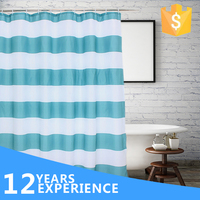 TOP ONE Lastest design polyester shower curtain, wholesale bathroom curtain