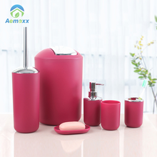 Durable and eco-friendly rad plastic bathroom accessories set