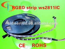 digital full color 5m 60 pixel/m 2812b 2811 rgb led strip, addressable ws2811 built-in smd 5050 chip; 5v input