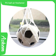 Hot selling hanging PU football car air freshener, IC-059