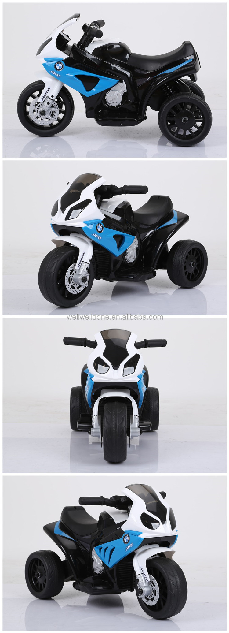 WDJT5188 Cool Design Kids Licensed BMW Motorcycles Scooters With Music