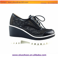 OU13 sheer and mesh unit thick sole spring summer sneakers. leisure shoes for women
