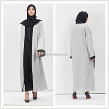 Wholesale low price jubah indonesia simple style muslim abaya for ladies front open coat dubai abaya 2016