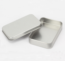 Wholesale small tin can flain rectangle metal lid tin box for cards