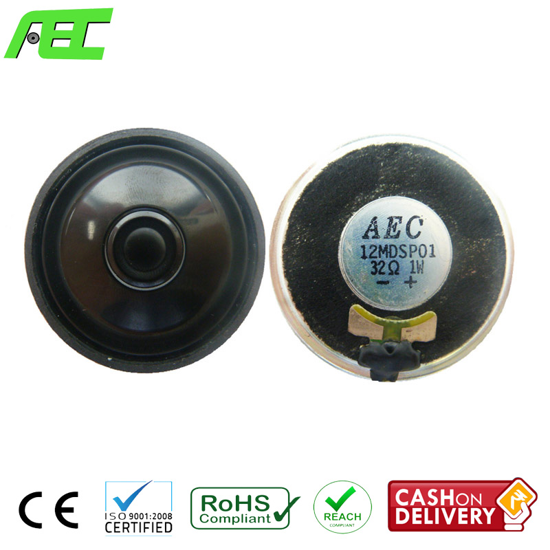 40mm Mylar Speaker Driver 32 ohm 1 w Speaker for Headphone