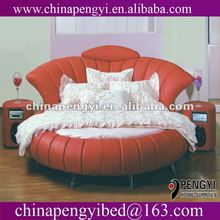 leather cheap round bed on sale PY-003