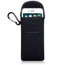 Wholesale Neoprene Case Impact Resistant Pouch With Carabiner For iPhone 6 Plus / 6S Plus