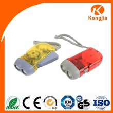 Emergency ABS Protable Rechargeable Hand Crank Flashlight Led Rechargeable Flashlight