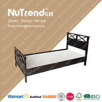 double electric adjustable solid wooden bed frame