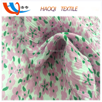 flower print 100% cotton crepe fabric for dress material