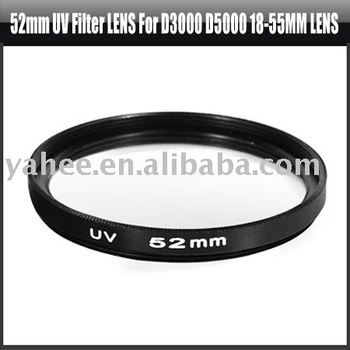 52mm UV Filter Lens for Nikon D3000 D5000 18-55MM Lens,YHA-HG076