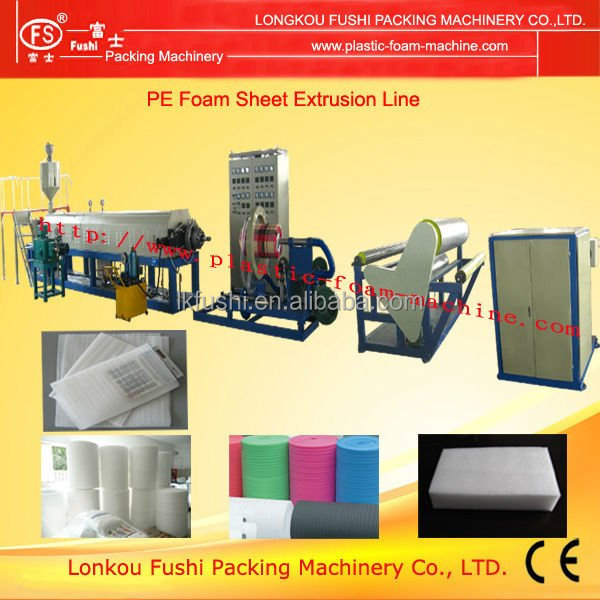 Topping Quality pe foam film extruder machine