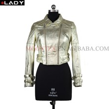 pearlescent soft hand leather jacket for women