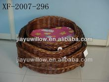 Hot Exqusite modern design wicker pet basket for dogs