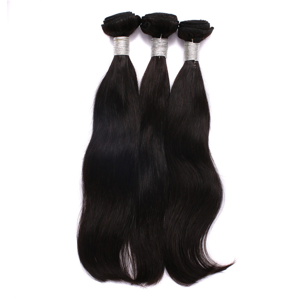10A natural black weave bundles, straight <strong>hair</strong> bundles , unprocessed cuticle aligned <strong>hair</strong>