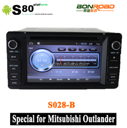 S80! Android 4.2 car dvd gps for Mitsubishi outlander lancer asx 2012 2013 2014 radio bluetooth SD USB+Canbus+Capacitive Screen