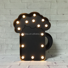 Customized factory price wall decor LED bulb electronic blackboard
