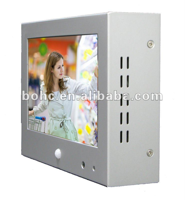7 Inch cf/sd card lcd advertising player