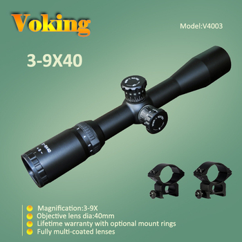 Voking/OEM 3-9X40 riflescope with 30mm tube military optic hunting equipment rifle scope