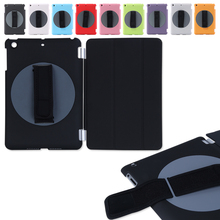 Hot sales Special design rotating 360 degree handheld case arm band case for ipad mini