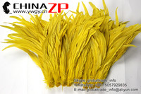 CHINAZP Factory Bulk Sale Top Quality Colored Yellow Fully Dyed Roosters Chicken Feathers