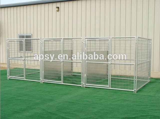 heavy duty outdoor enclosed dog kennel with roof shelter-single run