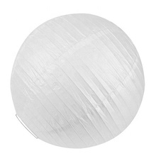 Wholesale Chinese Handmade White Wedding Decoration Hanging Round LED Paper Lanterns