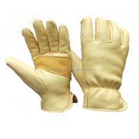 Yellow Premium Comfort Fit Deer Skin Waterproof Work Gloves
