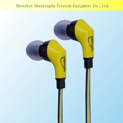 SXD Accessment supplier high quality fashion waterproof earphone with volume control