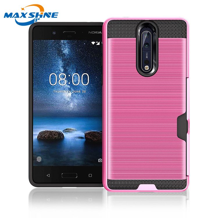 Maxshine 2018 factory supplier drop resistant case for nokia 8 back cover case paypal accept