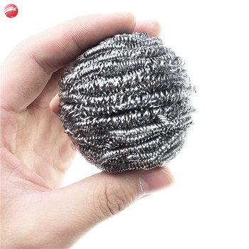 Top quality stainless steel scourer kitchen cleaning ball /dish washing pot scourer