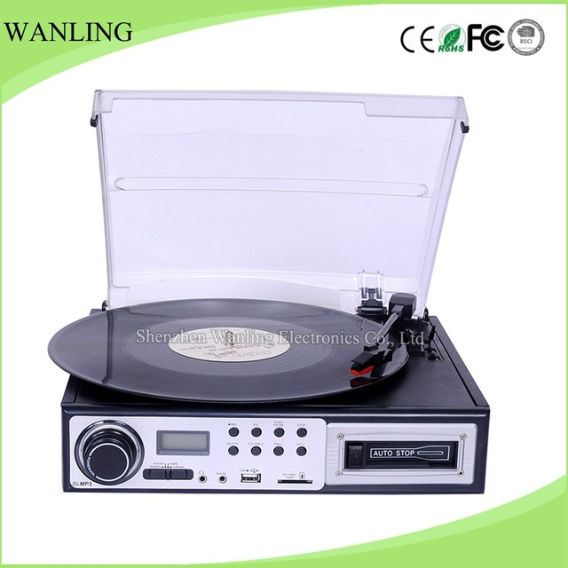 Antique gramophone manufacturers CD Cassette USB vintage record player