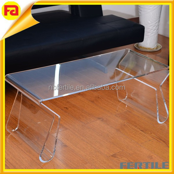 Acrylic Coffee Table With Rose,Dining Table,Wholesale