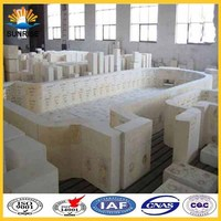 electro fused cast azs refractory lead bricks for sale