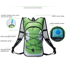 Multinational Hiking Travel Hydration Pack Backpack With 2L Water Bladder