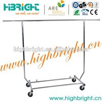 mobile curve shape promotion rack