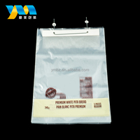 Custom printed high quality clear bread packaging plastic wicket bag
