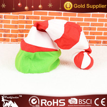 High Quality Holiday Multicolor Striped Lovely Ball Christmas Felt Hat