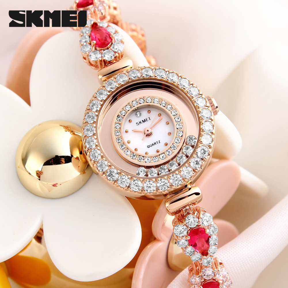 2016 fashion ladies fancy diamond jewelry bracelet brass watch gifts watches for Christmas