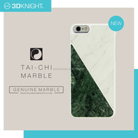 2016 New phone accessories white and green Marble Mosaic phone case for iPhone 6