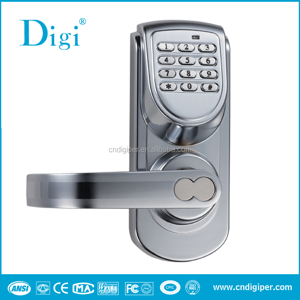Digi single-latch keypad office residential digital door lock with reversible handle