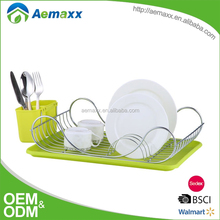 Unique design kitchen cabinet dish rack kitchen sink dish rack with plastic tray